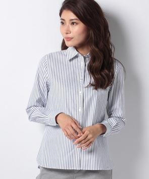 WEB限定【OEPP】オックスフォードストライプレギュラーカラーシャツ