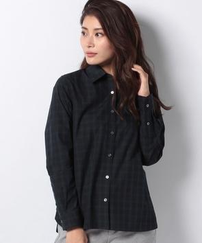 WEB限定【OEPP】ブラックウォッチレギュラーカラーシャツ