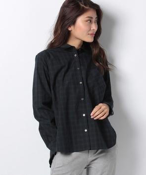 WEB限定【OEPP】ブラックウォッチラウンドカラーシャツ