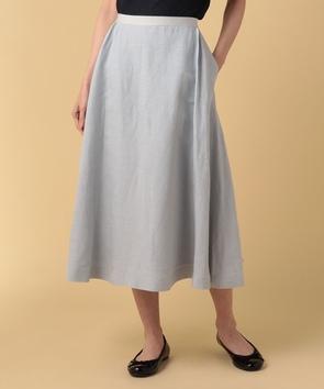 【セットアップ対応商品】リネンレーヨンポプリンスカート