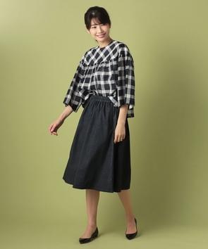 WEB限定【OEPP】ストレッチデニムスカート