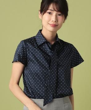 WEB限定【OEPP】サテンドット半袖シャツ