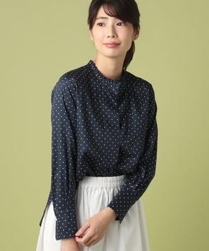 WEB限定【OEPP】サテンドット長袖シャツ