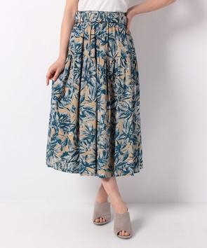グランドフラワープリントスカート