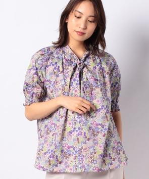 リバティプリントシャツ
