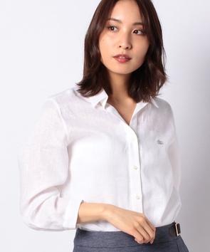 ウォッシュリネン7分袖シャツ