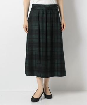 ウールレーヨンツィードスカート