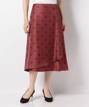 【セットアップ対応商品】クレストプリントスカート