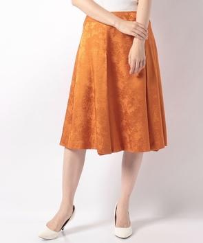 シルクウールジャカードスカート