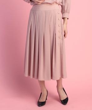【セットアップ対応商品】ドットプリントスカート
