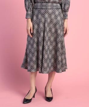 【セットアップ対応商品】BINDAチェックプリントスカート