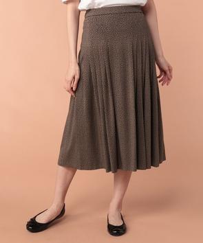 【セットアップ対応商品】ドット小紋ジャージースカート