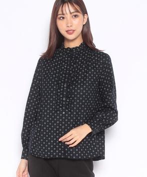 小花ウールプリントシャツ
