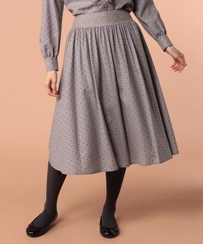 小花ウールプリントスカート