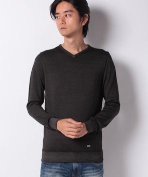 スノー加工ハイゲージセーター