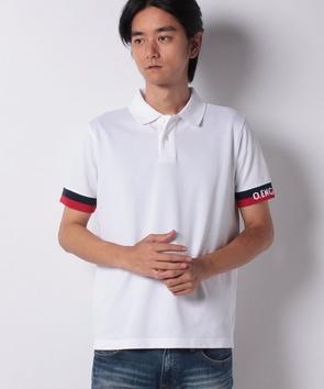 袖ロゴポロシャツ