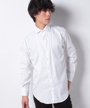 ジャカード素材シャツ