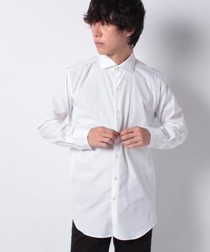 コットン素材長袖シャツ