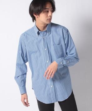 ギンガムチェックコットンシャツ