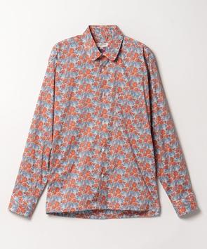 花柄コットンシャツ