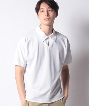 1つボタン半袖ポロシャツ