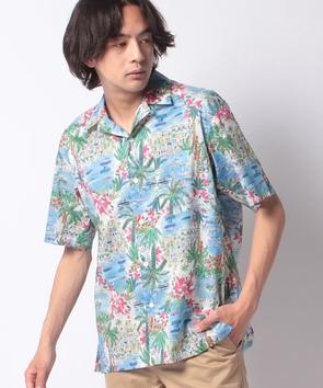リゾートモチーフシャツ