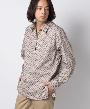 フラワープリントスキッパーシャツ