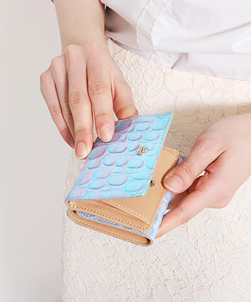 ラグーン 三つ折りBOXミニ財布