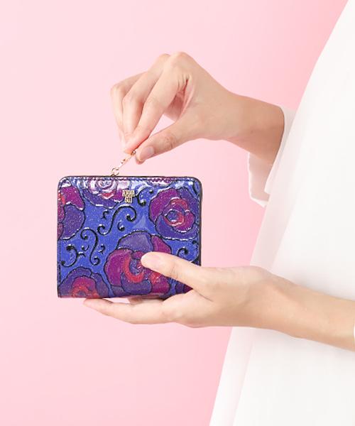 マジカルローズ Lファスナー2つ折り財布