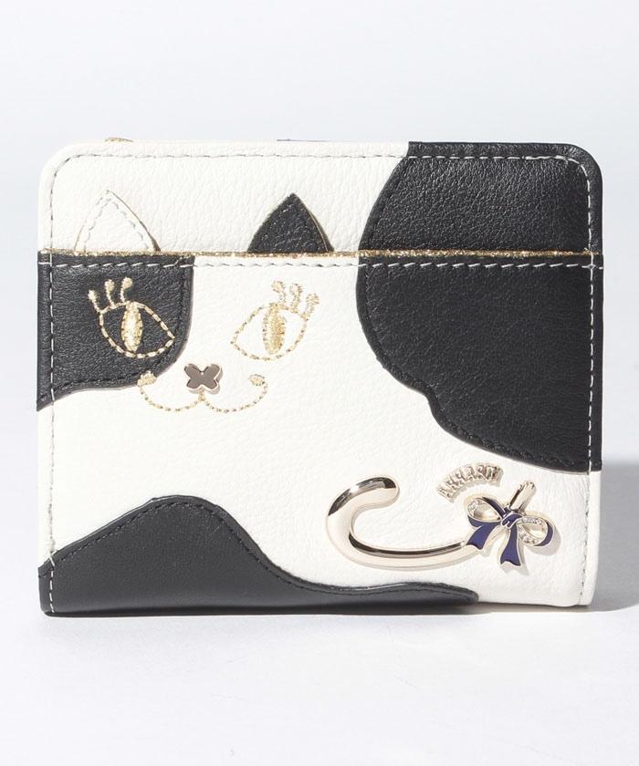 マイティティモウモウ 二つ折りファスナー財布