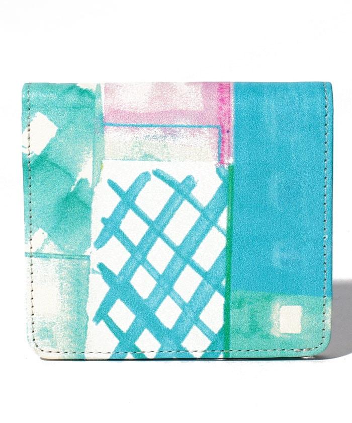 blurII二つ折り薄マチ財布