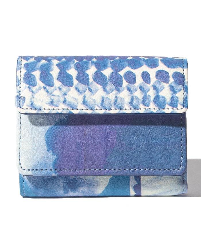 Chinese blue 三つ折り財布