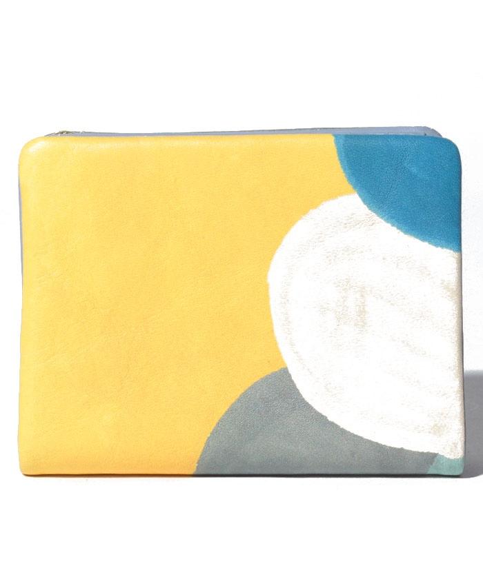 Paint 袋縫い2つ折り財布