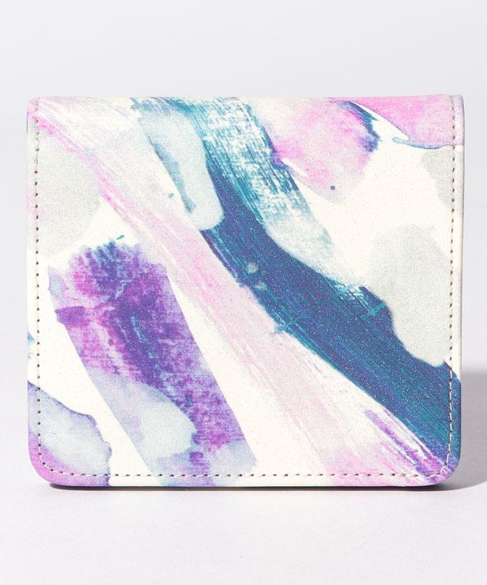 紫色の音階 二つ折り財布