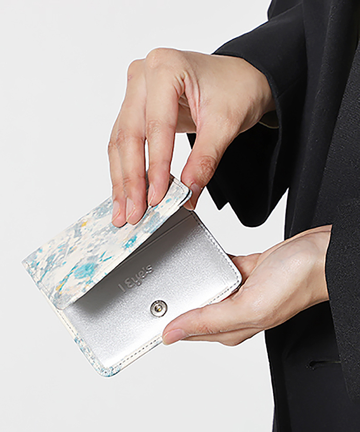 誰かの為の青 二つ折り財布