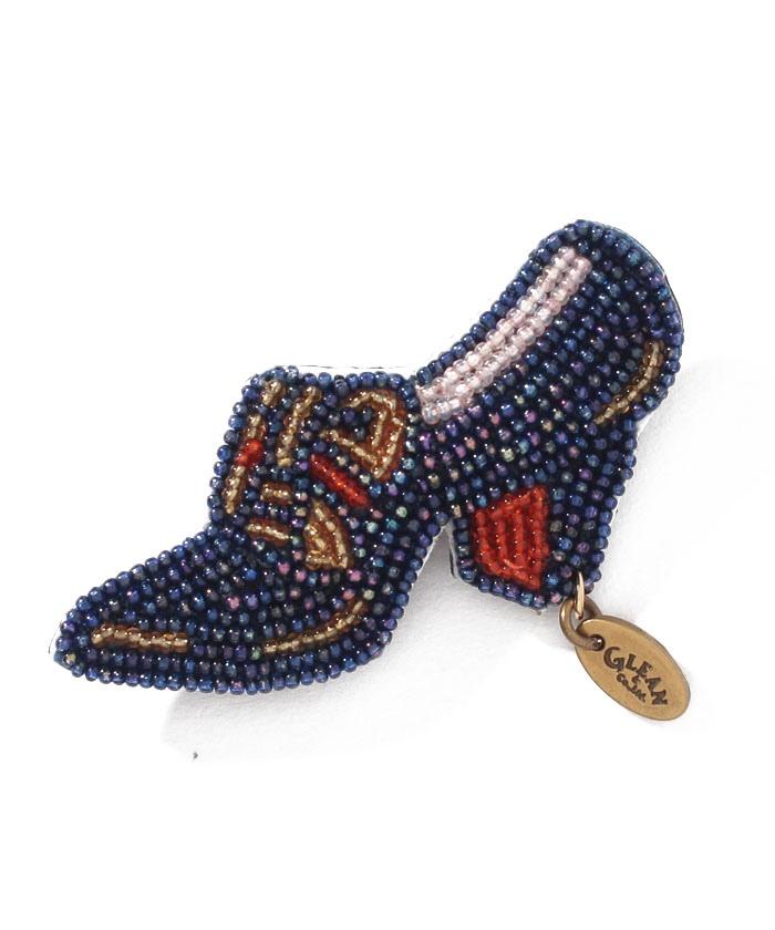 ファインビーズ ヒール靴