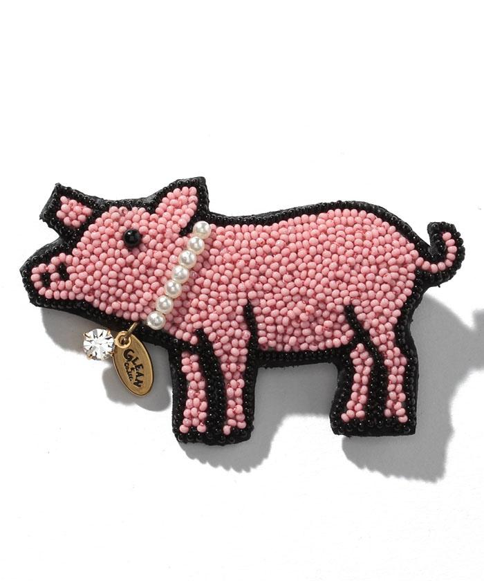 ファイン ビーズ ワーク 豚に真珠