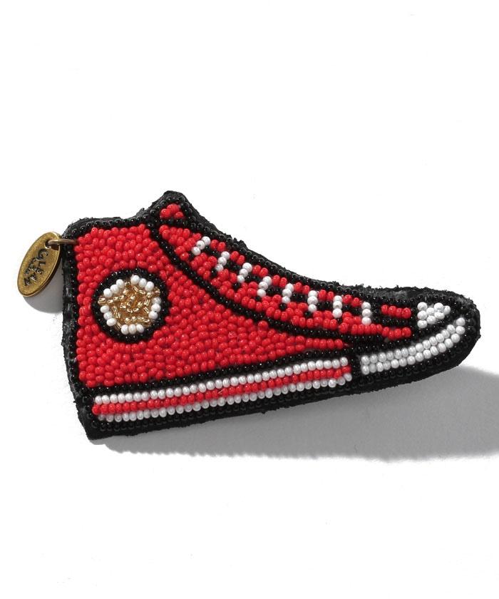 ファイン ビーズ ワーク Red sneaker