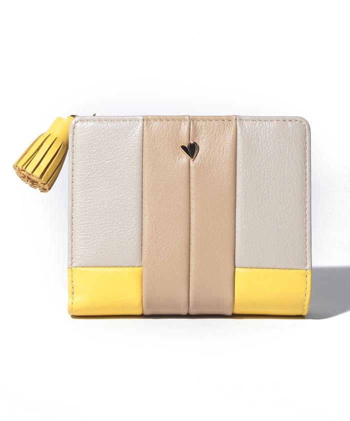 パピエ Lファスナー二つ折り財布
