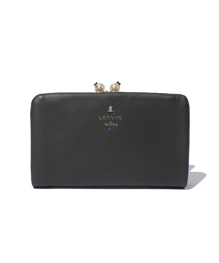 LANVIN en Bleu シャペル 2つ折り口金財布