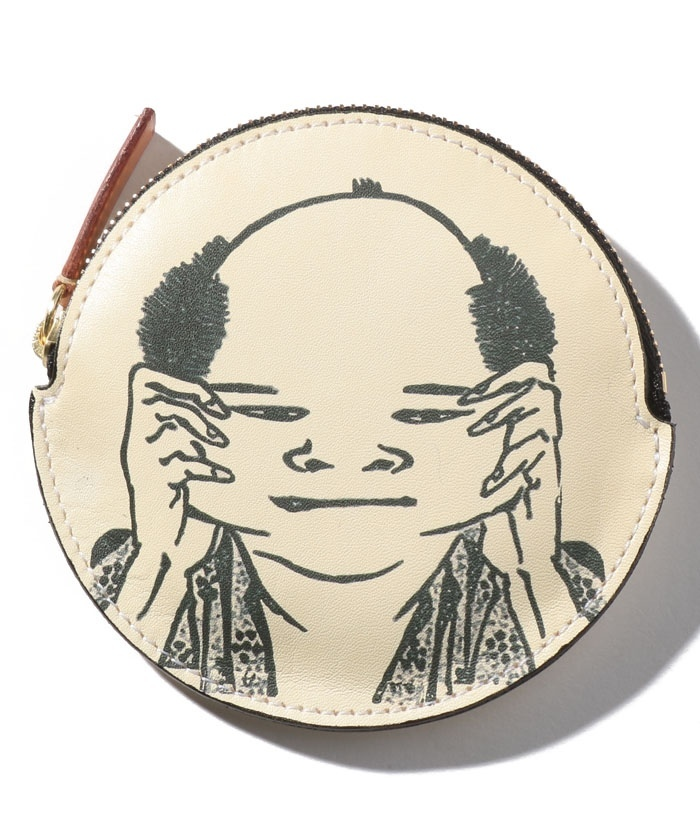 葛飾北斎 北斎漫画コインケース【百面相A】