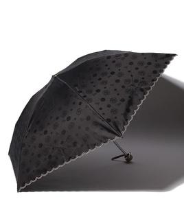 LANVIN COLLECTION 晴雨兼用傘 ミニ傘 【軽量】 ジャガード スカラ刺繍