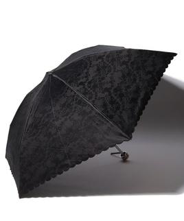 LANVIN COLLECTION 晴雨兼用傘 ミニ傘 【軽量】 ジャガード スカラ刺繍 レース