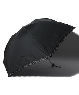 LANVIN COLLECTION 晴雨兼用傘 ミニ傘 【軽量】 オーガンジー バラ カットワーク