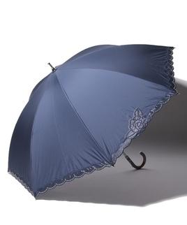 LANVIN COLLECTION 晴雨兼用傘 長傘 【軽量】 オーガンジー バラ カットワーク