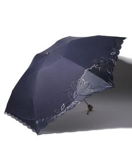 LANVIN COLLECTION 晴雨兼用 ミニ傘 【大判】オーガンジー カットワーク