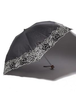 LANVIN COLLECTION 晴雨兼用傘 ミニ傘 オーガンジー刺繍