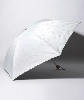 LANVIN COLLECTION 晴雨兼用傘 ミニ傘 【軽量】ジャガード スカラ刺繍