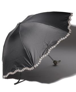 LANVIN COLLECTION 晴雨兼用傘 ミニ傘 【クイックアーチ】 刺繍 小花