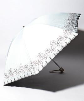 LANVIN COLLECTION 晴雨兼用傘 ミニ傘 ラメ入り 刺繍